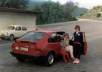 Summer of 1983 or 1984, location Trojane pass between Celje and Ljubljana, our way to vacation at Pula, south of Histria. On picture is my sister, mam and friend Anja.