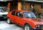 Prety the same year, Alfasud served as a phaeton at wedding. My dad is standing next to car.