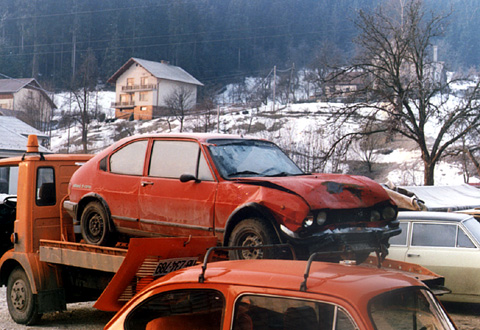 That was the end of AlfaSud. After heavy knockout on winter's morning. AlfaSud was repaired, but love soon faded and she was sold.
